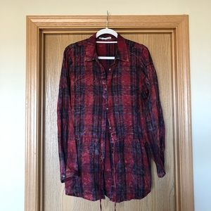 Maurice's plaid button down